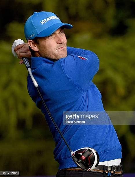 Florian Fritsch of Germany on the 13th tee during the first round of the British Masters at Woburn Golf Club on October 8 2015 in Woburn England