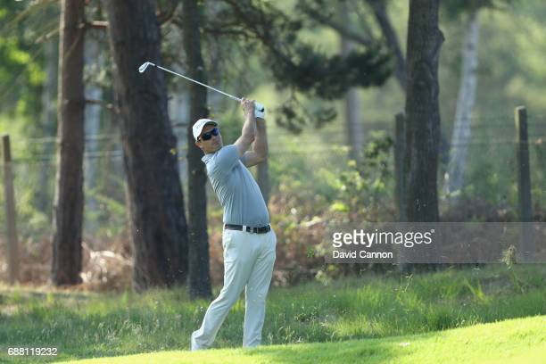Florian Fritsch of Germany on the ninth hole during day one of the BMW PGA Championship at Wentworth on May 25 2017 in Virginia Water England