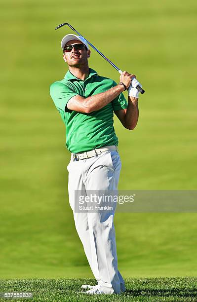Florian Fritsch of Germany plays a shot during the first round of the Nordea Masters at Bro Hof Slott Golf Club on June 2 2016 in Stockholm Sweden