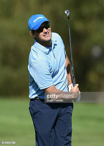Florian Fritsch of Germany plays an iron shot during the final round of the Porsche European Open at Golf Resort Bad Griesbach on September 25 2016...