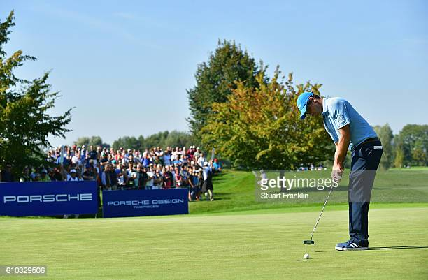 Florian Fritsch of Germany puts during the final round of the Porsche European Open at Golf Resort Bad Griesbach on September 25 2016 in Passau...