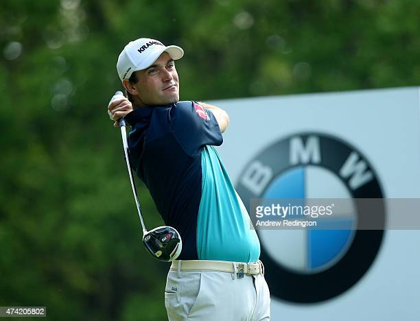 Florian Fritsch of Germany tees off on the 3rd hole during day 1 of the BMW PGA Championship at Wentworth on May 21 2015 in Virginia Water England