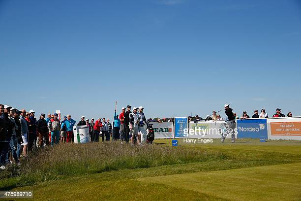 Florian Fritsch of Germany tees off on the third hole on day two of the Nordea Masters at the PGA Sweden National on June 5 2015 in Malmo Sweden