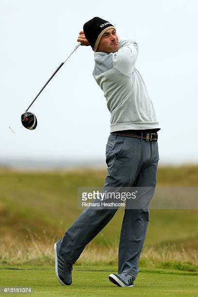 Florian Fritsch of Germnay plays a drive off the 15th tee during the second round of the Alfred Dunhill Links Championship at The Old Course on...