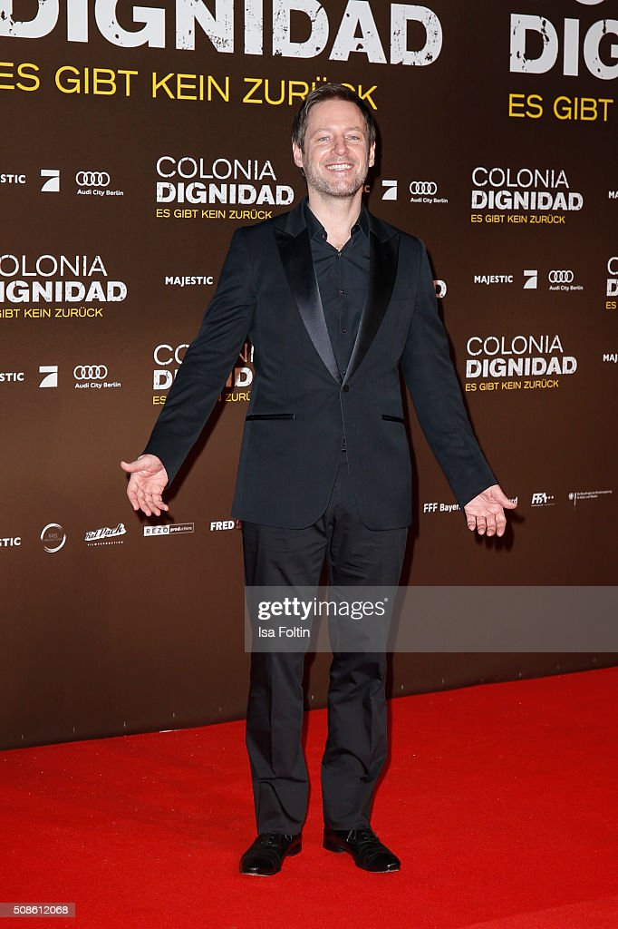<a gi-track='captionPersonalityLinkClicked' href=/galleries/search?phrase=Florian+Gallenberger&family=editorial&specificpeople=2159581 ng-click='$event.stopPropagation()'>Florian Gallenberger</a> attends the 'Colonia Dignidad - Es gibt kein zurueck' Berlin Premiere on February 05, 2016 in Berlin, Germany.