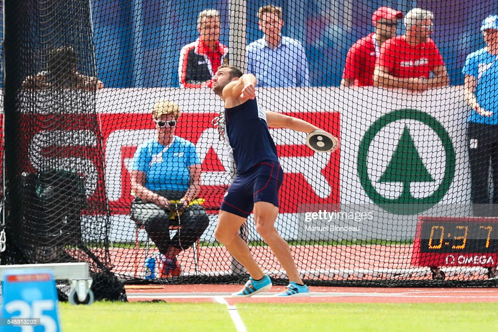 Florian Geffrouais of France in action during Decathlon Discus Throw during the European Athletics Championships at Olympic Stadium on July 7, 2016 in Amsterdam, Netherlands.