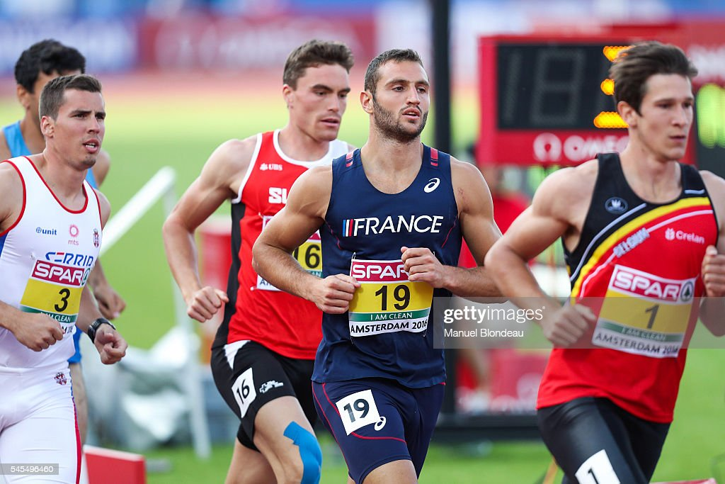 Florian Geffrouais of France in action during the 1500m of the Decathlon during the European Athletics Championships at Olympic Stadium on July 8, 2016 in Amsterdam, Netherlands.