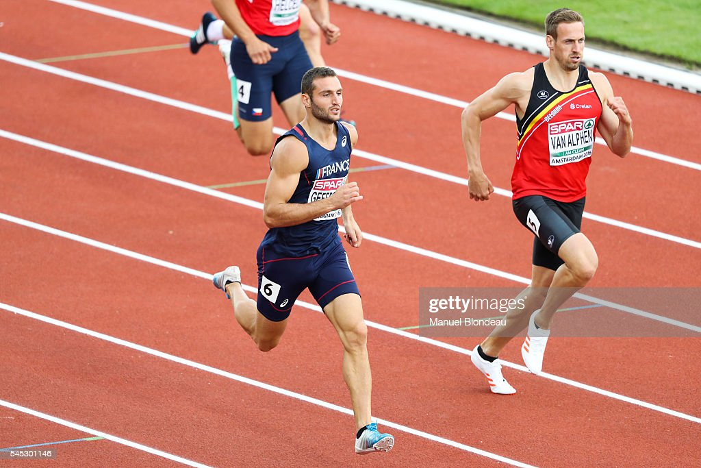 Florian Geffrouais of France in action during the decathlon 400m during the European Athletics Championships at Olympic Stadium on July 6, 2016 in Amsterdam, Netherlands.