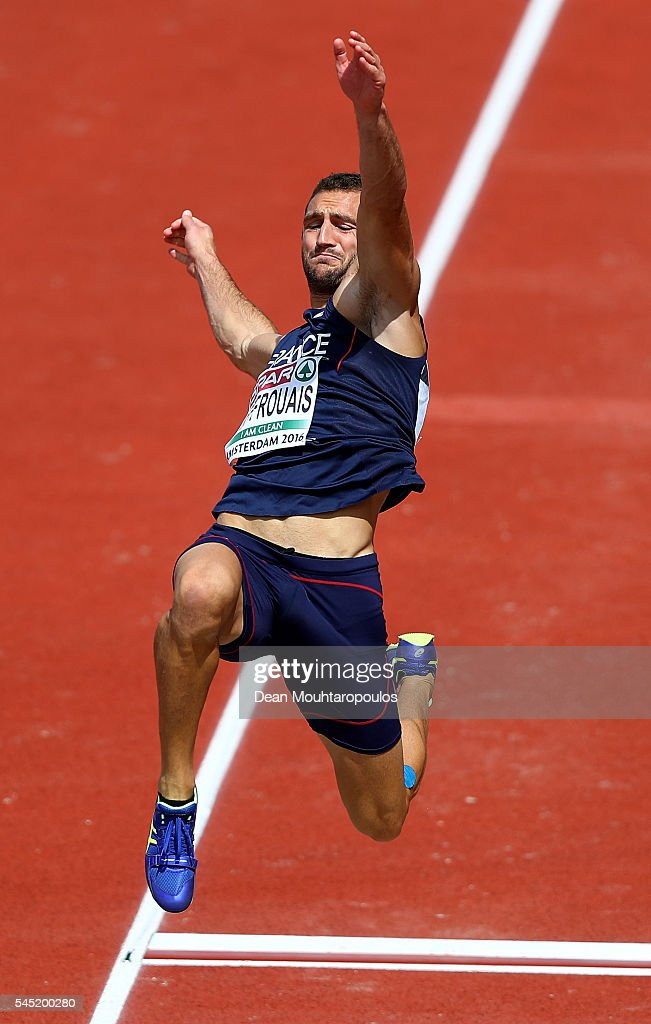 Florian Geffrouais of France in action during the mens decathlon on day one of The 23rd European Athletics Championships at Olympic Stadium on July 6, 2016 in Amsterdam, Netherlands.