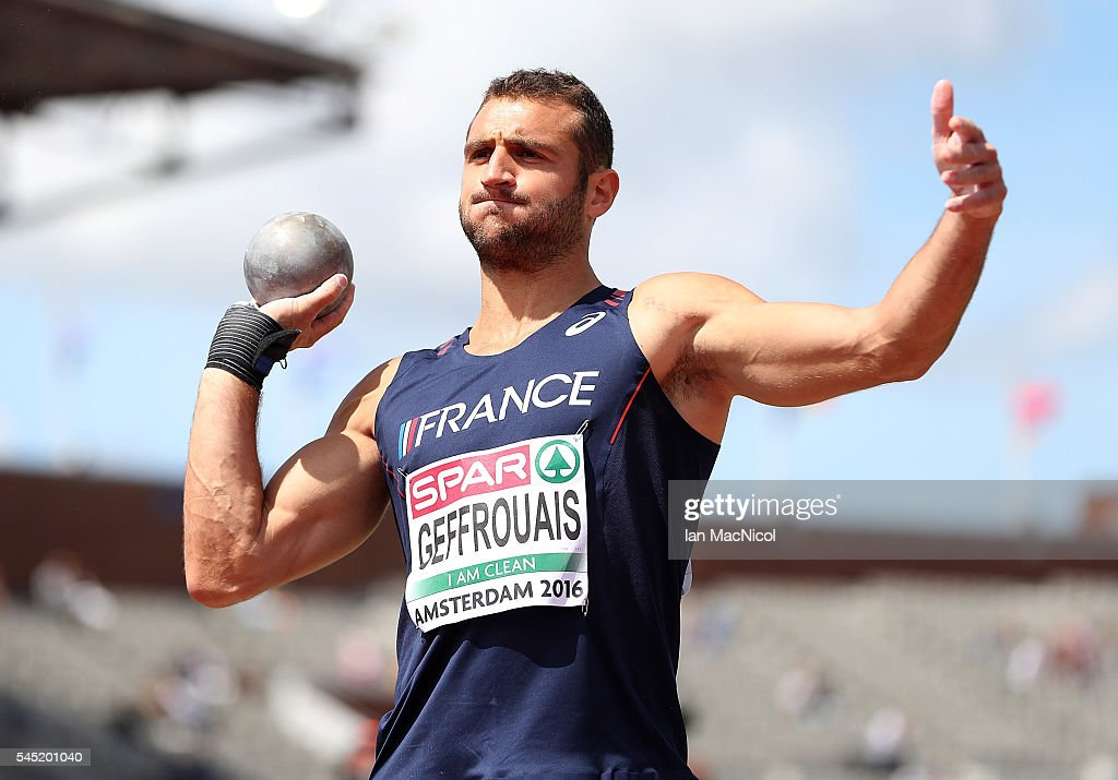 Florian Geffrouais of Frnace in action during the mens decathlon on day one of The 23rd European Athletics Championships at Olympic Stadium on July 6, 2016 in Amsterdam, Netherlands.