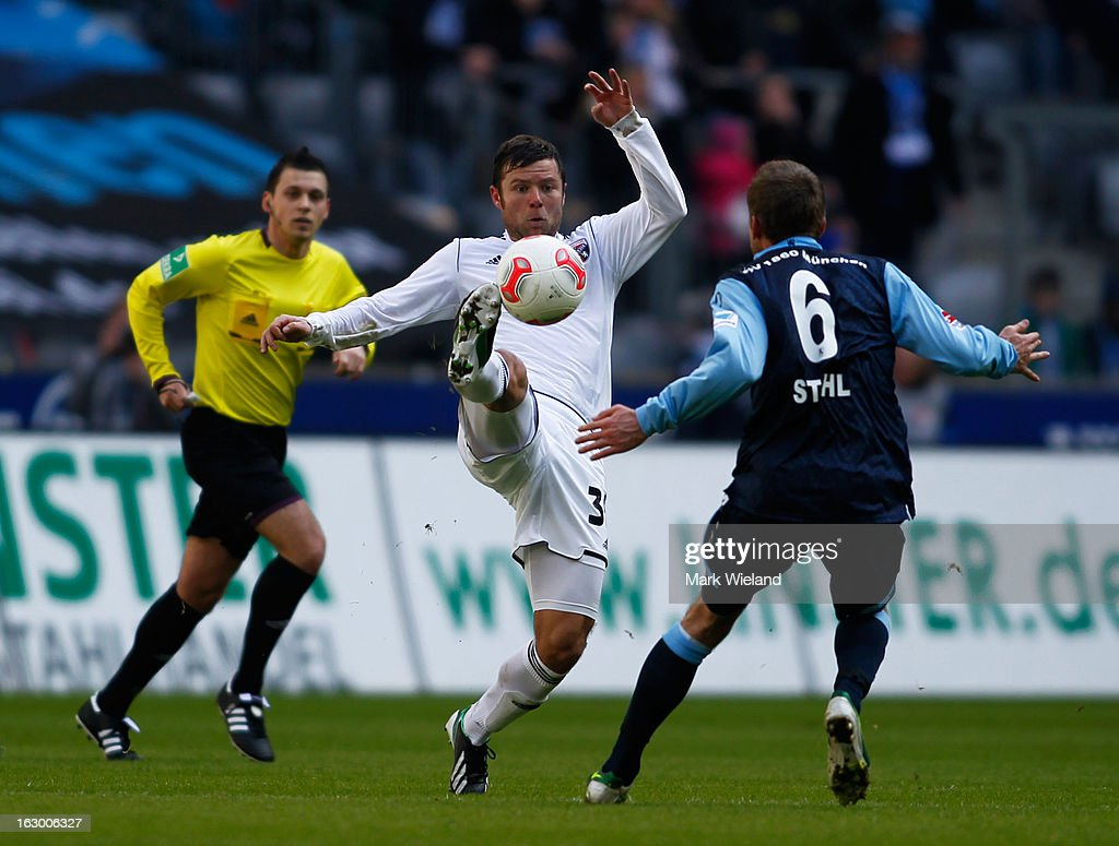 <a gi-track='captionPersonalityLinkClicked' href=/galleries/search?phrase=Florian+Heller&family=editorial&specificpeople=766512 ng-click='$event.stopPropagation()'>Florian Heller</a> of FC Ingostadt in action during the Second Bundesliga League match between 1860 Muenchen and FC Ingostadt at Allianz Arena on March 3, 2013 in Munich, Germany.