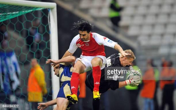 Florian JARJAT / Cedric FAURE / Olivier BLONDEL Reims / Troyes Ligue 2 5e journee Photo Dave Winter / Icon Sport