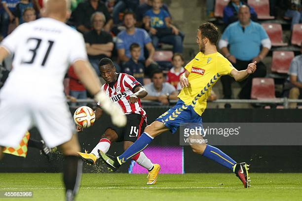 Florian Jozefzoon of PSV during the UEFA Europa League match between PSV and GD Estoril Praia on September 18 2014 at the Philips stadium in...