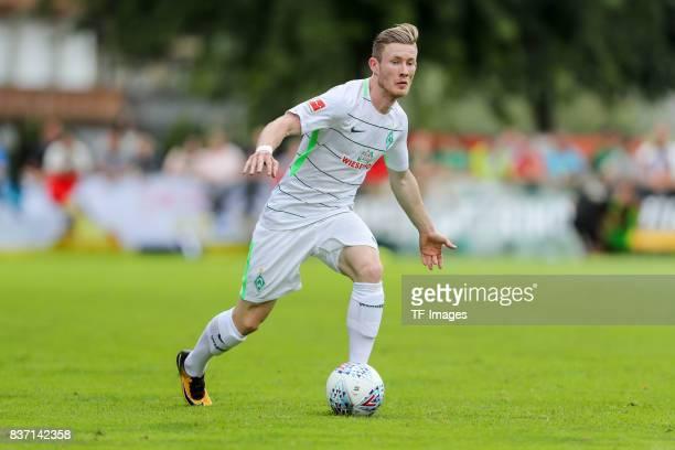 Florian Kainz of Bremen controls the ball during the preseason friendly between Werder Bremen and Wolverhampton Wanderers at Parkstadion Zell Am...