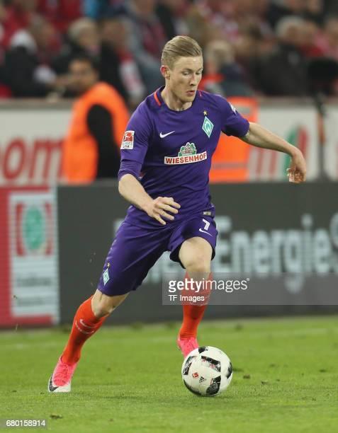 Florian Kainz of Bremen controls the ball during to the Bundesliga match between 1 FC Koeln and Werder Bremen at RheinEnergieStadion on May 5 2017 in...