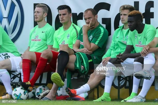 Florian Kainz of Bremen Goalkeeper Michael Zetterer of Bremen Goalkeeper Jaroslav Drobny of Bremen Johannes Eggestein of Bremen and Ousman Manneh of...