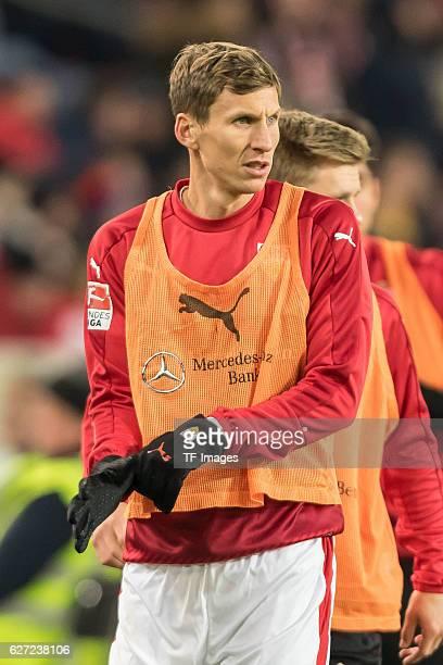 Florian Klein of Stuttgart looks on during the second Bundesliga match between VfB Stuttgart and 1 FC Nuernberg at Mercedes Benz Arena on November 28...
