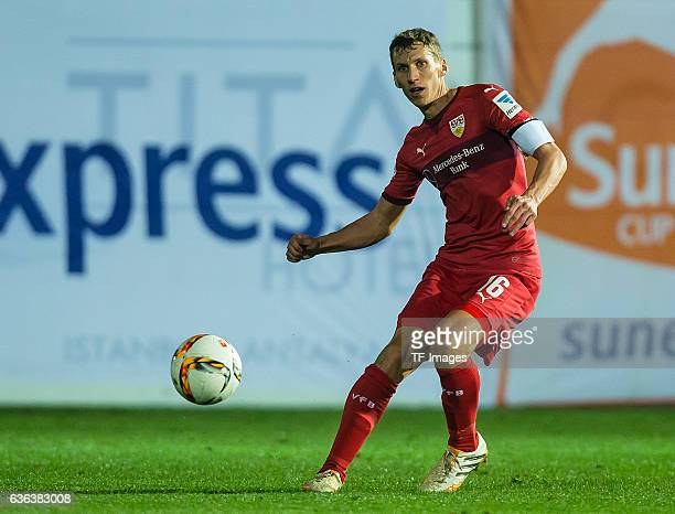 Florian Klein of VfB Stuttgart in action during a friendly match between VfB Stuttgart and VfL Bochum at Titanic Deluxe Sports Ground on January 10...