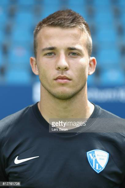 Florian Kraft of VfL Bochum poses during the team presentation at Vonovia Ruhrstadion on July 11 2017 in Bochum Germany