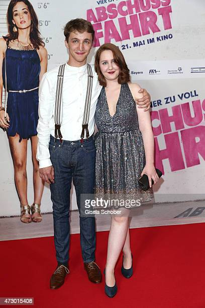 Florian Kroop and his girlfriend Lilly during the premiere for the film 'Abschussfahrt' at Mathaeser Filmpalast on May 11 2015 in Munich Germany