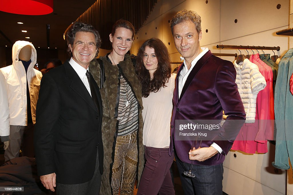 Florian Langenscheidt, Miriam Langenscheidt, Anja Carina Schabel and Nikolaus Weil attend the 'Peuterey Cocktail Party' at Peuterey flagship store Kurfuerstendamm on January 15, 2013 in Berlin, Germany.