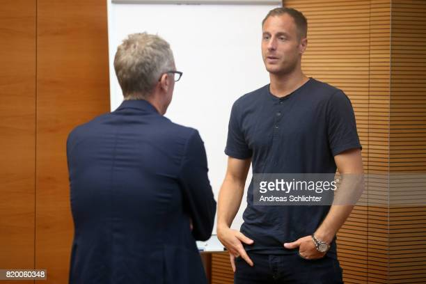 Florian Meyer Matthias Lehmann at DFB Headquarter on July 19 2017 in Frankfurt am Main Germany