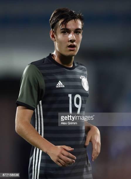 Florian Neuhaus of Germany reacts during the UEFA Under21 Euro 2019 Qualifier match between Azerbaijan U21 and Germany U21 at Dalga Arena on November...