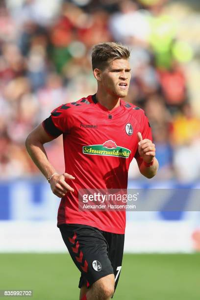 Florian Niederlechner of Freiburg looks on during the Bundesliga match between SportClub Freiburg and Eintracht Frankfurt at SchwarzwaldStadion on...