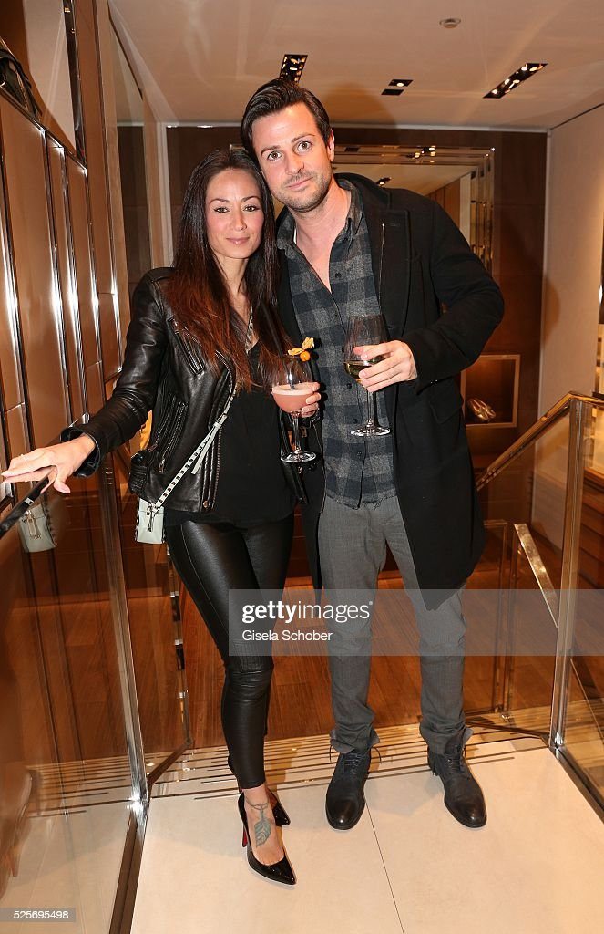 Florian Orterer and his wife Cora Orterer during the TOD'S 'The art of leather' party on April 28, 2016 in Munich, Germany.