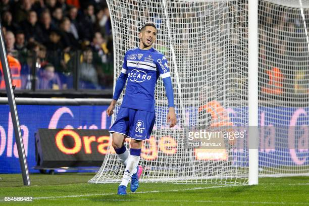 Florian Raspentino of Bastia looks dejected during the Ligue 1 match between Fc Metz and SC Bastia at Stade SaintSymphorien on March 17 2017 in Metz...