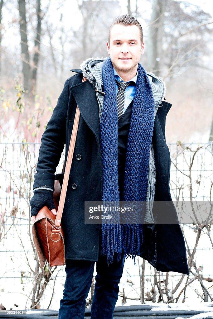Florian Schoenfeld attends Mercedes-Benz Fashion Week Autumn/Winter 2013/14 at venue on January 15, 2013 in Berlin, Germany.