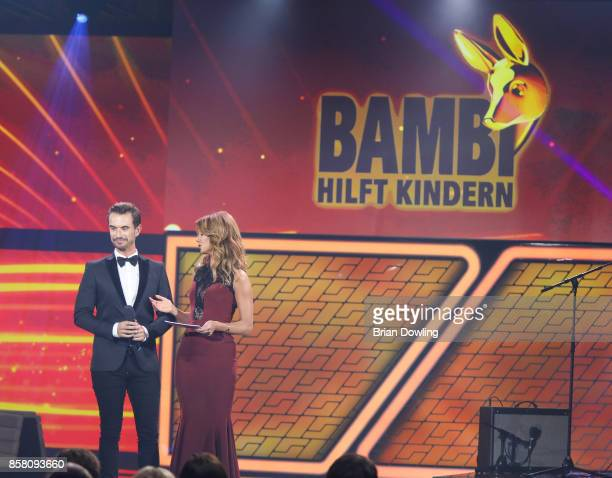 Florian Silbereisen and Marelle Hoeppner host the Tribute To Bambi show at Station on October 5 2017 in Berlin Germany