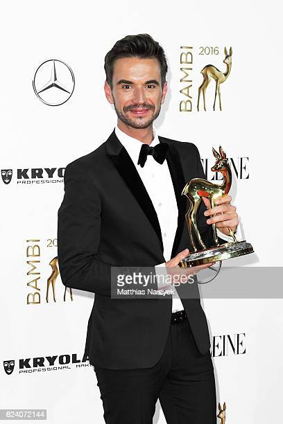Florian Silbereisen poses with award at the Bambi Awards 2016 winners board at Stage Theater on November 17 2016 in Berlin Germany