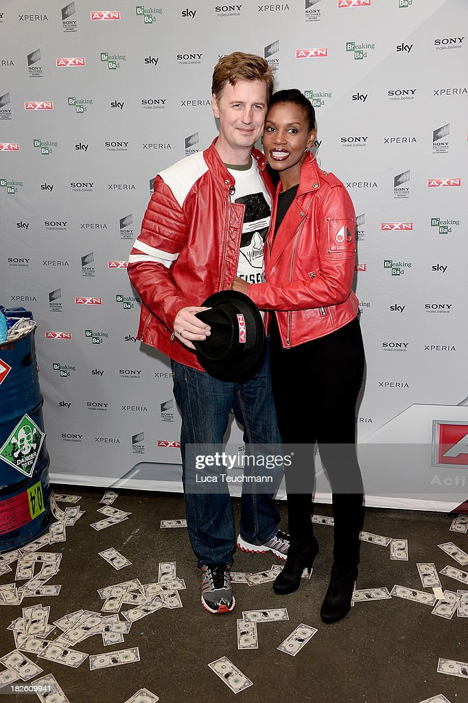<a gi-track='captionPersonalityLinkClicked' href=/galleries/search?phrase=Florian+Simbeck&family=editorial&specificpeople=3014984 ng-click='$event.stopPropagation()'>Florian Simbeck</a> and Stephanie Simbeck attends the 'Breaking Bad' Screening Party at the Cosy-Wash on October 1, 2013 in Berlin, Germany.
