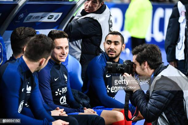 Florian Thauvin and Dimitri Payet of France during the friendly match France and Spain at Stade de France on March 28 2017 in Paris France
