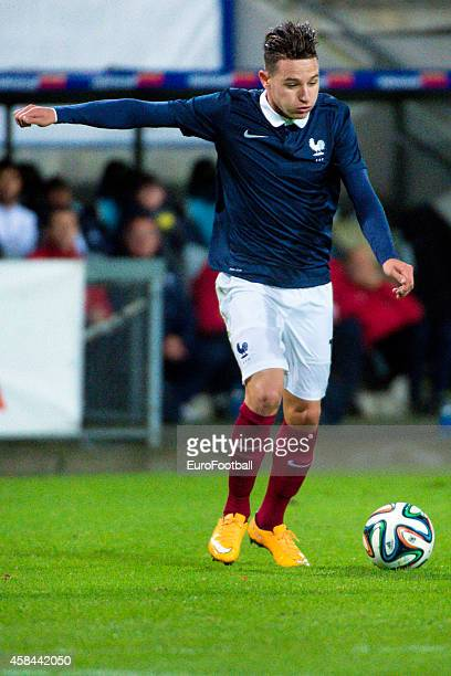 Florian Thauvin of France in action during the UEFA Under21 Championship qualifying match between Sweden and France in Orjans Vall Stadium on October...
