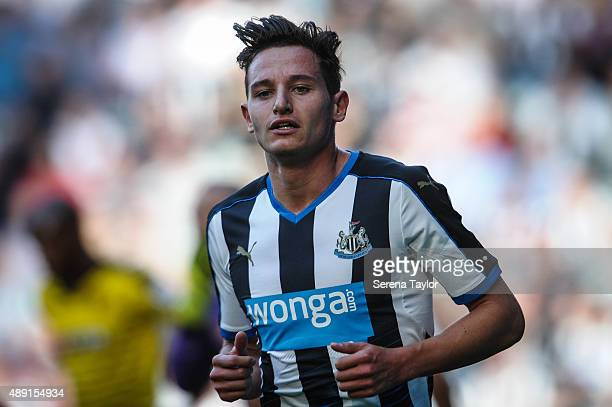 Florian Thauvin of Newcastle during the Barclays Premier League match between Newcastle United and Southampton at StJames Park on September 19 in...