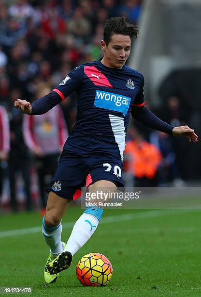 Florian Thauvin of Newcastle in action during the Barclays Premier League match between Sunderland AFC and Newcastle United FC at the Stadium of...