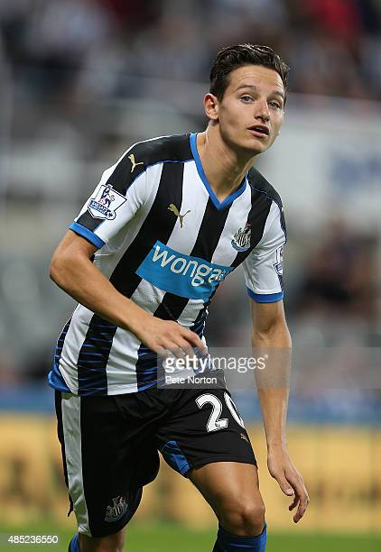 Florian Thauvin of Newcastle United in action during the Capital One Cup Second Round between Newcastle United and Northampton Town at St James' Park...