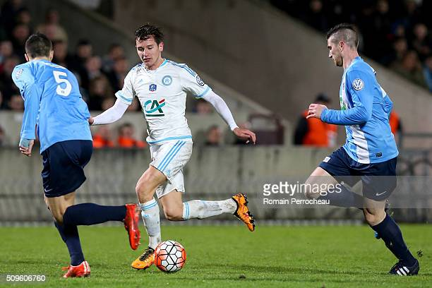 Florian Thauvin of Olympique de Marseille in action during the French Cup match between Trelissac FC and Olympique de Marseille at Stade ChabanDelmas...