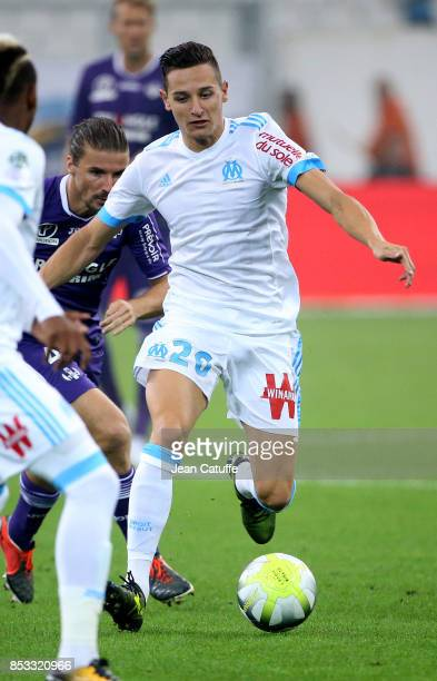 Florian Thauvin of OM during the French Ligue 1 match between Olympique de Marseille and Toulouse FC at Stade Velodrome on September 24 2017 in...