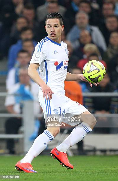 Florian Thauvin of OM in action during the French Ligue 1 match between Olympique de Marseille and Paris SaintGermain at New Stade Velodrome on April...