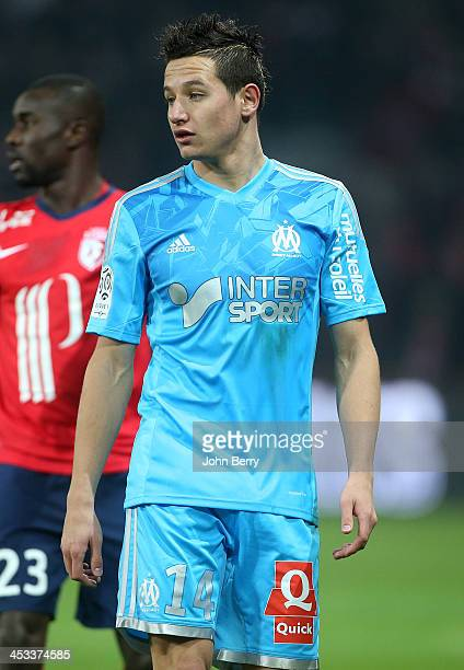 Florian Thauvin of OM in action during the French Ligue 1 match between Lille OSC and Olympique de Marseille OM at the Grand Stade Pierre Mauroy on...