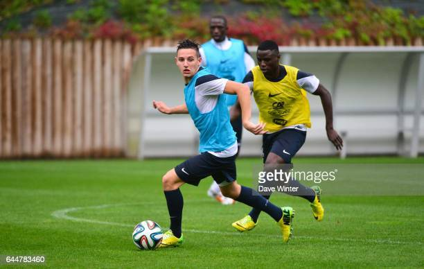 Florian THAUVIN / Paul Georges N'TEP Football Confrontation Espoirs / France Clairefontaine Photo Dave Winter / Icon Sport