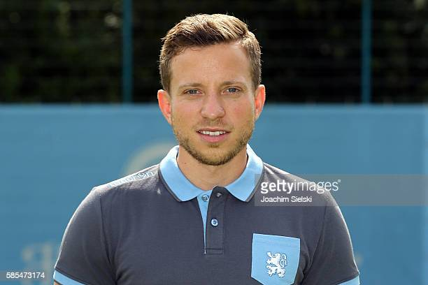Florian Waitz poses during the official team presentation of TSV 1860 Muenchen at Trainingsgelaende on July 22 2016 in Munich Germany
