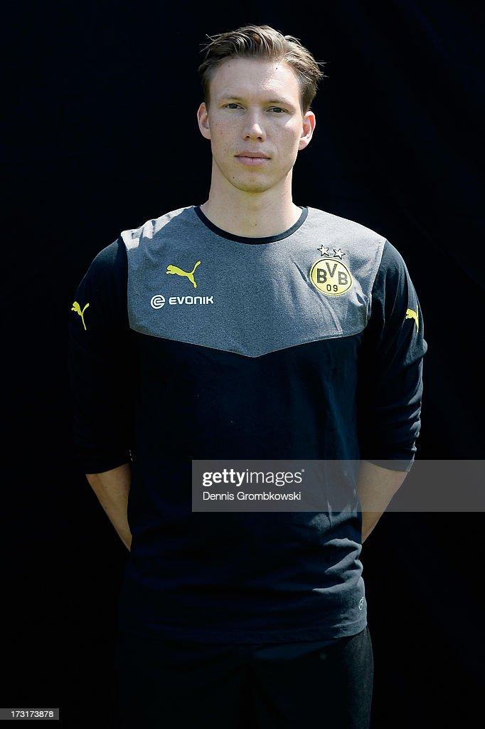 Florian Wangler poses during the Borussia Dortmund Team Presentation at Brackel Training Ground on July 9, 2013 in Dortmund, Germany.
