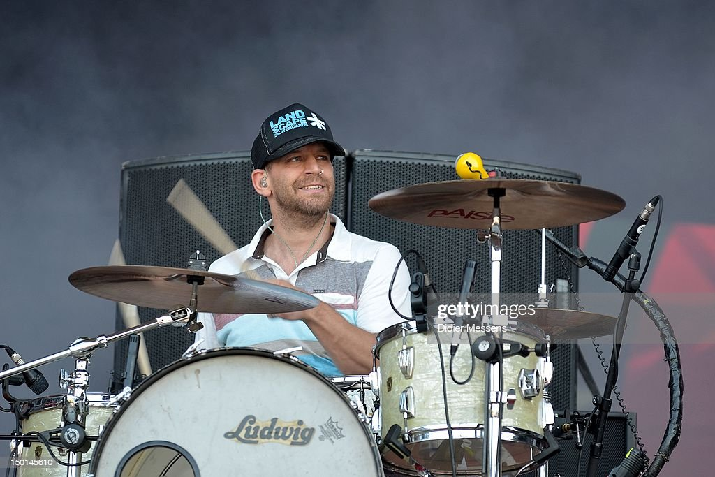 Florian Weber of Sportfreunde Stiller performs on stage during Sziget Festival on August 10, 2012 in Budapest, Hungary.