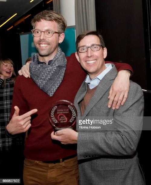 Florian Weghorn and John Thew attend the 2017 Aspen Shortsfest Awards Dinner on April 9 2017 at Aspen Kitchen in Aspen Colorado