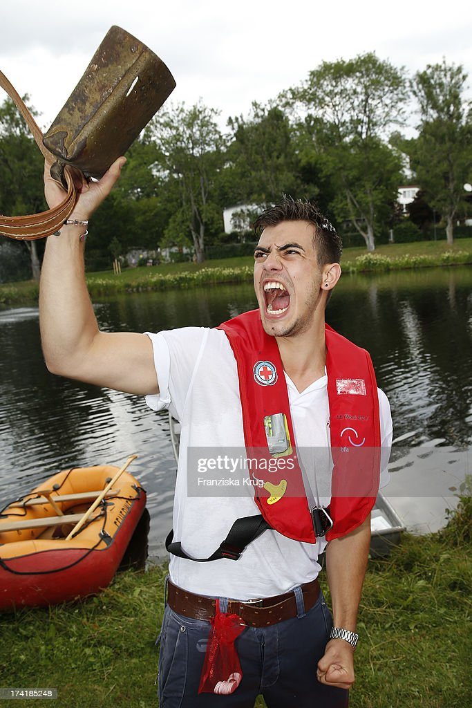 Florian Wuensche attends the Charity Event Benefitting Flood Victims on July 20, 2013 in Grafenau, Germany.