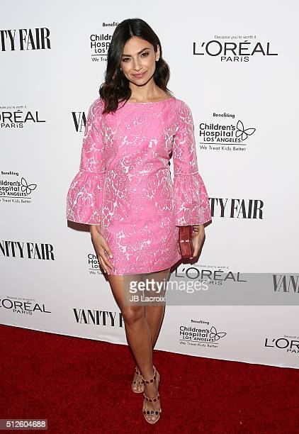 Floriana Lima attends a DJ night hosted by Vanity Fair L'Oreal Paris Hailee Steinfeld at Palihouse Holloway on February 26 2016 in West Hollywood...